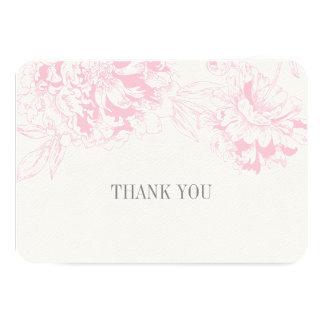 El plano le agradece carda diseño floral rosado anuncios personalizados