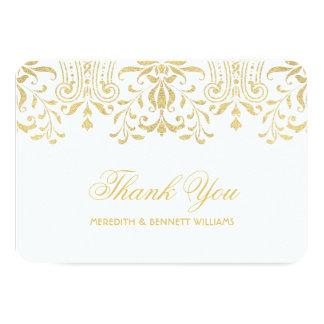 El plano le agradece encanto del vintage del oro comunicado personal