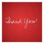 El plano rojo del vintage le agradece las tarjetas invitación personalizada
