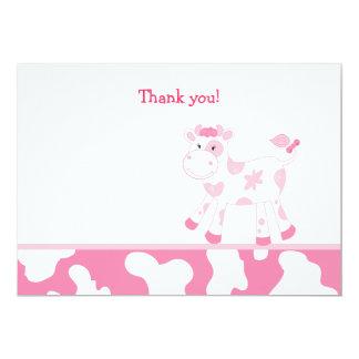 El plano rosado de la vaca le agradece observar anuncio personalizado