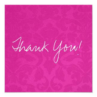 El plano rosado del vintage le agradece las invitacion personalizada