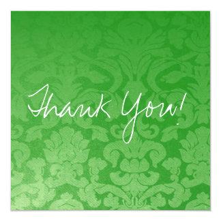 El plano verde del vintage le agradece las invitaciones personales