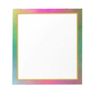 El plasma rosada se nubla el pequeño cuaderno de n blocs de papel