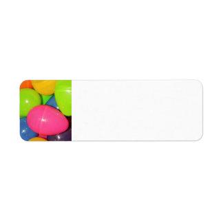 El plástico Eggs la etiqueta del remite Etiqueta De Remite