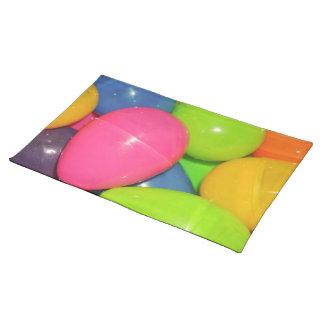 El plástico Eggs Placemats Mantel Individual