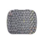el plástico encadena imagen abstracta frascos de caramelos