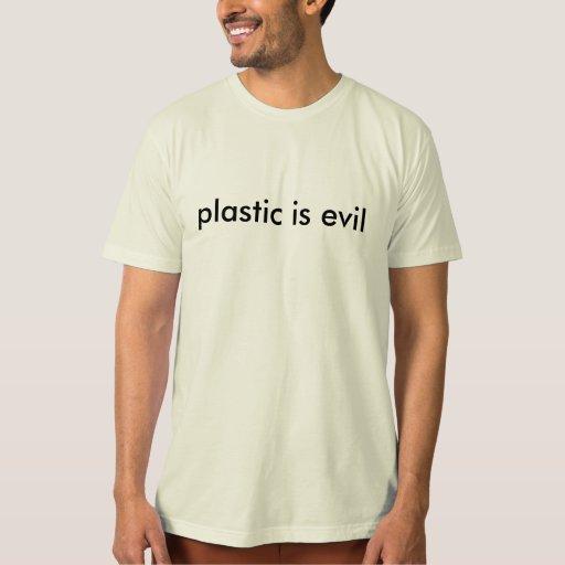 el plástico es malvado playera