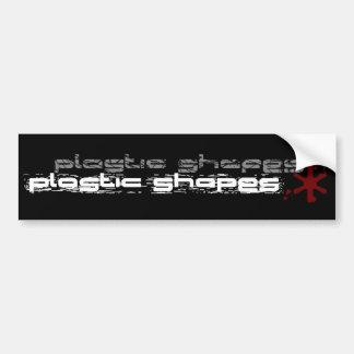 El plástico forma a la pegatina para el parachoque pegatina para auto