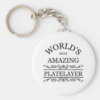 El Platelayer más asombroso del mundo Llaveros Personalizados