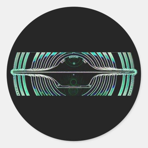¡El platillo volante V7 - modifiqúelo para Etiqueta Redonda