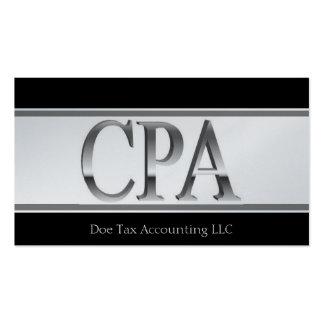 El platino del contable del impuesto raya 3D CPA Tarjeta De Visita