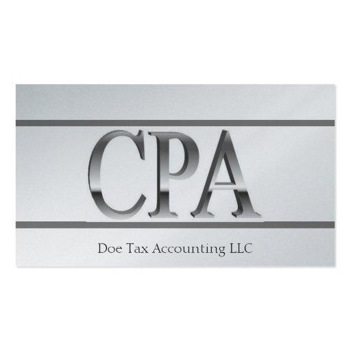 El platino del contable del impuesto raya 3D CPA Tarjetas De Visita