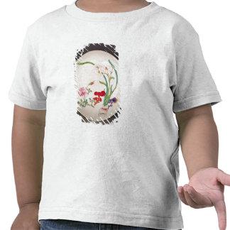 El plato de porcelana famille subió la decoración camisetas