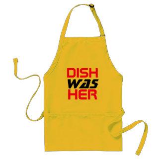 El plato era su delantal del lavaplatos