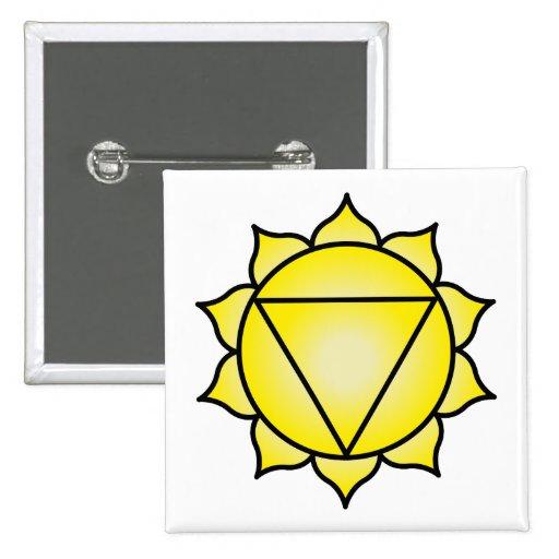 El plexo solar Chakra Pin