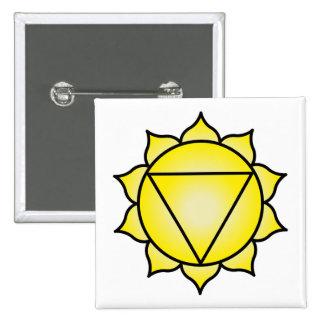 El plexo solar Chakra Pin Cuadrado