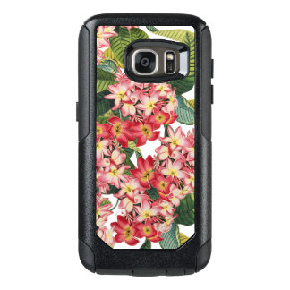 El Plumeria botánico florece la caja floral del Funda Otterbox Para Samsung Galaxy S7