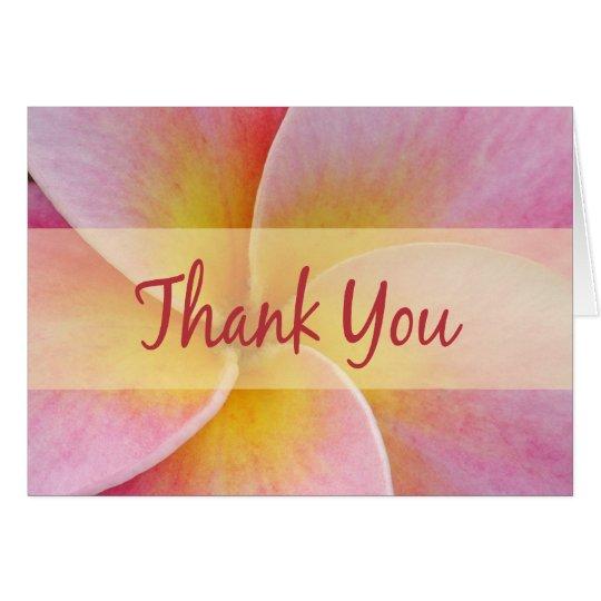 El Plumeria rosado le agradece las tarjetas