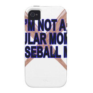 El .png de las camisetas de las mamáes del béisbol vibe iPhone 4 carcasa