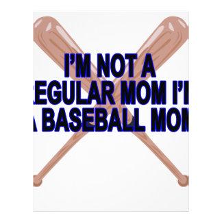 El .png de las camisetas de las mamáes del béisbol plantillas de membrete