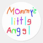 El poco ángel de la mamá pegatinas redondas