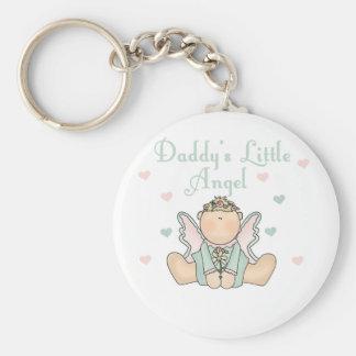 El poco ángel del papá llavero redondo tipo pin