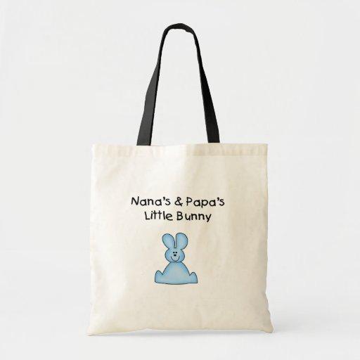 El poco conejito azul de Nana y de la papá Bolsa De Mano
