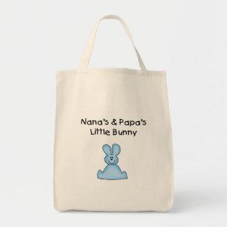 El poco conejito azul de Nana y de la papá Bolsa Tela Para La Compra
