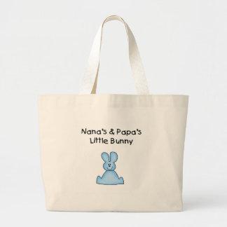 El poco conejito azul de Nana y de la papá Bolsa Tela Grande