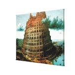 """El """"poco"""" de Pieter Bruegel torre de Babel Lona Envuelta Para Galerias"""