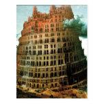 "El ""poco"" de Pieter Bruegel torre de Babel Postales"