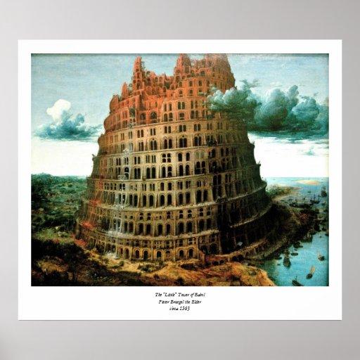 """El """"poco"""" de Pieter Bruegel torre de Babel Póster"""