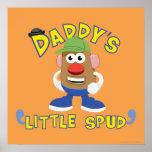 El poco del papá perfora póster