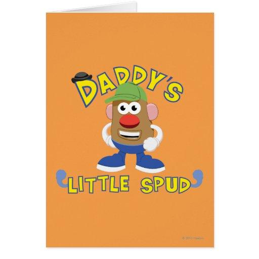 El poco del papá perfora tarjeta de felicitación