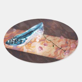 El poco deslizador de cristal colcomanias oval personalizadas