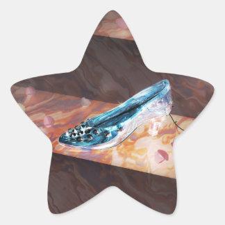 El poco deslizador de cristal calcomanías forma de estrella