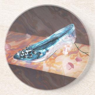 El poco deslizador de cristal posavasos de arenisca