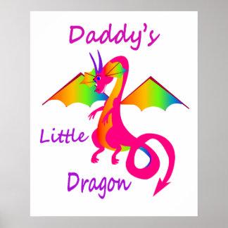 El poco dragón del papá póster