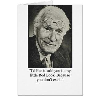 El poco libro rojo de Jung Tarjeta De Felicitación