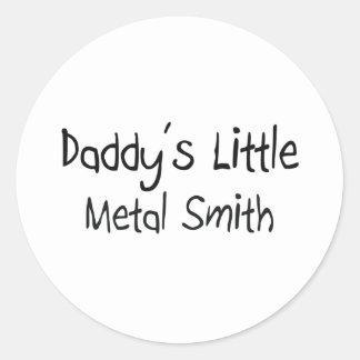 El poco metal Smith del papá Pegatina Redonda