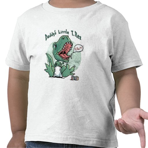 El poco T Rex del papá Camiseta