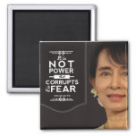 El poder de Aung San Suu Kyi no lo corrompe es mie Imanes De Nevera
