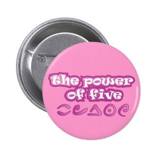 El poder de cinco pin