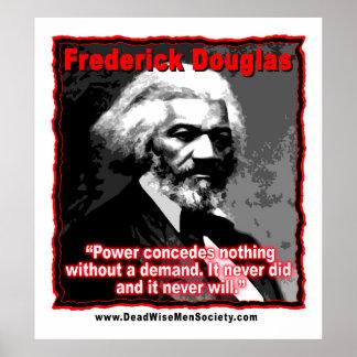 El poder de Frederick Douglass concede cita Póster