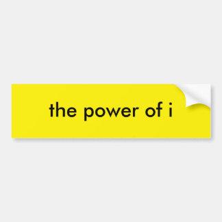 el poder de i pegatina de parachoque
