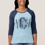 El poder de la camiseta del raglán del rezo para l