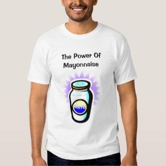 El poder de la mayonesa (blanca) playeras