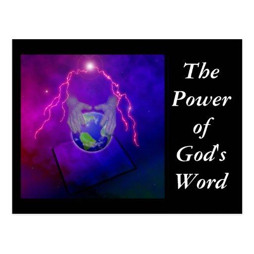 El poder de la palabra de dios postal
