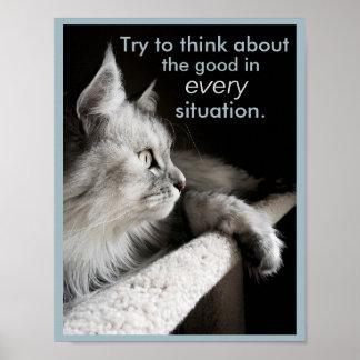 El poder de pensar el poster positivo póster