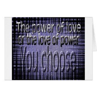 El poder del amor felicitaciones